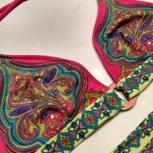 Victoria's Secret Bikini Top - Hot Pink and Lime